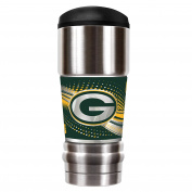 NFL Green Bay Packers Unisex NFL Packers 530ml Vacuum Insulated MVP Tumblr, Silver