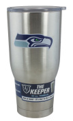 NFL Seattle Seahawks Ultra Tumbler Hot Cold Keeper Stainless Steel 950ml, Silver