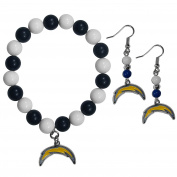 NFL San Diego Chargers Fan Bead Earrings & Bracelet Set