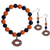 NFL Chicago Bears Fan Bead Earrings & Bracelet Set