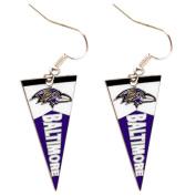 Sport Team Baltimore Ravens Pennant Dangle Earring