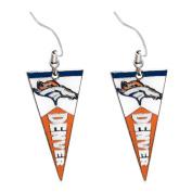 Sport Team Denver Broncos Pennant Dangle Earring