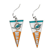 Sport Team Miami Dolphins Pennant Dangle Earring