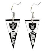 Sport Team Oakland Raiders Pennant Dangle Earring