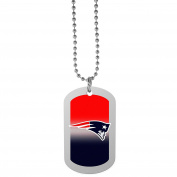 NFL New England Patriots Team Tag Necklace, Steel, 70cm