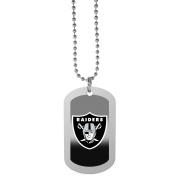 NFL Oakland Raiders Team Tag Necklace, Steel, 70cm