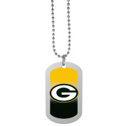 NFL Green Bay Packers Team Tag Necklace, Steel, 70cm