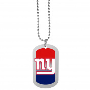 NFL New York Giants Team Tag Necklace, Steel, 70cm