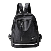 Large-capacity Women's Backpack Multifunctional College Wind Travel Bag Black