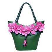 Handbag Stitching Fluorescent Fashion Flowers Weaving Large Capacity Shoulder Bag Dinner Bag Evening Bag