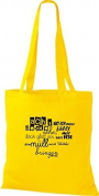 ShirtInStyle Tote bag Cotton bag Typo fold where ich you grad famous Waste - Yellow, 38 cm x 42 cm