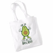 Avocado Tote Bags for Women Vegan Gifts Cotton Shopping Bag Ladies Shoulder Bag Printed Beach Bag Hay Ho Lets All Eat Avocado Tote Bag