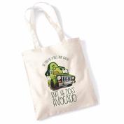 Avocado Tote Bags for Women Vegan Gifts Cotton Shopping Bag Ladies Shoulder Bag Printed Beach Bag But He Dose Avocado Tote Bag