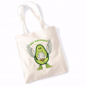 Avocado Tote Bags for Women Vegan Gifts Cotton Shopping Bag Ladies Shoulder Bag Printed Beach Bag Holy Guacamole Tote Bag