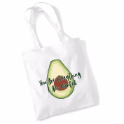 Avocado Tote Bags for Women Vegan Gifts Cotton Shopping Bag Ladies Shoulder Bag Printed Beach Bag You Are Everything I Avo Wanted Tote Bag