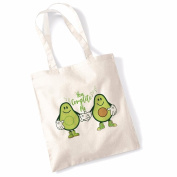 Avocado Tote Bags for Women Vegan Gifts Cotton Shopping Bag Ladies Shoulder Bag Printed Beach Bag You Complete Me