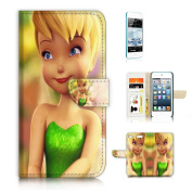 iPod Touch 6 iTouch 6 Flip Wallet Case Cover & Screen Protector Bundle! A20030 TinkerBell