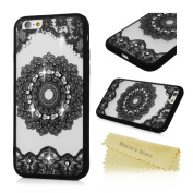 Mavis's Diary iPhone 6/ iPhone 6S Case, Bling Sparkle Patterns Designed Glitter Rhinestone Decorated Clear Case Full Body Hybrid Soft TPU + Hard PC Shock-Absorption Bumper Shell Grip Case Cover For iPhone 6/ iPhone 6S - Totem