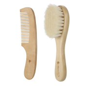 Anself 2Pcs Baby Hair Brush Comb Set Newborn Hairbrush Kit Infant Comb