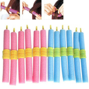 Tmalltide 12 pcs Foam Bendy Hair Rollers Curlers For Short Long Hair Styling Tools Set