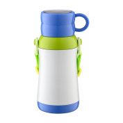 YIHANG @ Children Insulation Cups Stainless Steel Men And Women Students Portable Baby Cute Cup,Blue