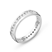 Miore Ladies 925 Sterling Silver Zirconia Channel Ring