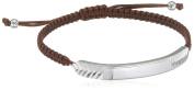 D for Diamond Chevron Diamond Cut Brown Bracelet