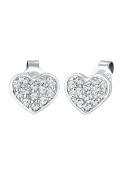 Elli Women Earring 925 Sterling Silver Heart Crystals Earrings