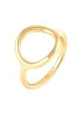 Elli Women Silver 925 Sterling Silver Circle Ring - Size N