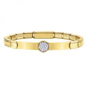 Nomination TRENDSETTER Women's Bracelet Stainless Steel and White Brilliant Cut 18 cm – 021121/021