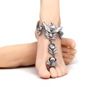 Lady Trim Alloy Diamond Angel Shape Anklet Personality Exaggeration Fashion Jewellery Toe Anklet