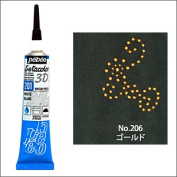 pebeo Seta colour 3D broad pearl 20 ml tube / gold NO. 206 [paint / pearl / cloth / / tree / glass / mirror / metal]