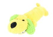 Playful Pets Plush Dog Neon Loofa Sausage Dog With Squeaker Pet Toy-Yellow
