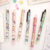The pretty girl who shows cute six kinds whom paper Dole mate ball-point pen ballpen afrocat paperdoll nostalgic paper Dole mate girl Gurley has a cute