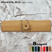 Minerva box roll pen case leather pencil case IVL-6001-ake