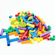 HJXJXJX Luxury Boxed Pipes Plumbing Toys Kindergarten Children Assembled Puzzle Diy Building Blocks