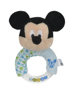 """Simba 16042322000cm Disney Mickey"""" Ring Rattle with Plush Toy"""