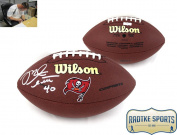 Mike Alstott Autographed/Signed NFL Tampa Bay Buccaneers Composite Football