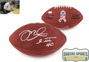 Mike Alstott Autographed/Signed NFL Authentic Salute the Troops Football - Tampa Bay Buccaneers