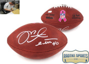 Mike Alstott Autographed/Signed NFL Authentic Breast Cancer Awareness Football - Tampa Bay Buccaneers