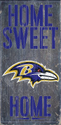 Baltimore Ravens Wood Sign - Home Sweet Home 6x12
