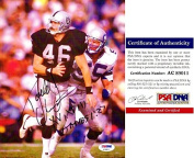 Todd Christensen Signed - Autographed Oakland / Los Angeles Raiders 20cm x 25cm Photo with SUPER BOWL inscription - PSA/DNA Certificate of Authenticity