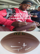 Stepfan Taylor Autographed Football - stanford coa proof - Autographed Footballs