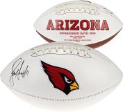 Larry Fitzgerald Arizona Cardinals Autographed White Panel Football - Fanatics Authentic Certified - Autographed Footballs