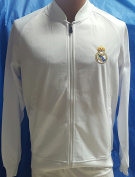 New Real Madrid White Jacket Adult Medium