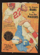 December 17th 1960 NFL Programme Green Bay Packers At Los Angeles Rams Vg