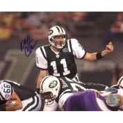 Steiner Sports NFL New York Jets Kellen Clemens Over Centre vs. Vikings Horizontal 8x10 Photo