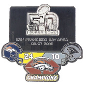 "Denver Broncos Super Bowl L (50) Champions ""Ultimate"" Pin - Limited 1,000 - Medium Style"