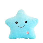 Bright Light up Colourful Glowing LED Luminous Star Plush Pillows Cushions Toys Kid's Cosy Soft Relax Gifts
