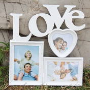 WYFC Hot White Base Photo Collage Picture Holder Display Frame Art Decor Home Wall Hanging Family Love Show Photo Frame Gift